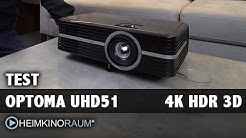TEST: OPTOMA UHD51 4K UltraHD HDR 3D Beamer mit Christian Obermayer