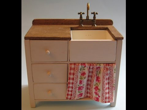 112th Scale Dolls' House Sink Unit Tutorial  Part One