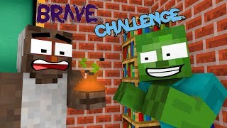 Monster School: BRAVE CHALLENGE ft. GRANNY - Minecraft Animation