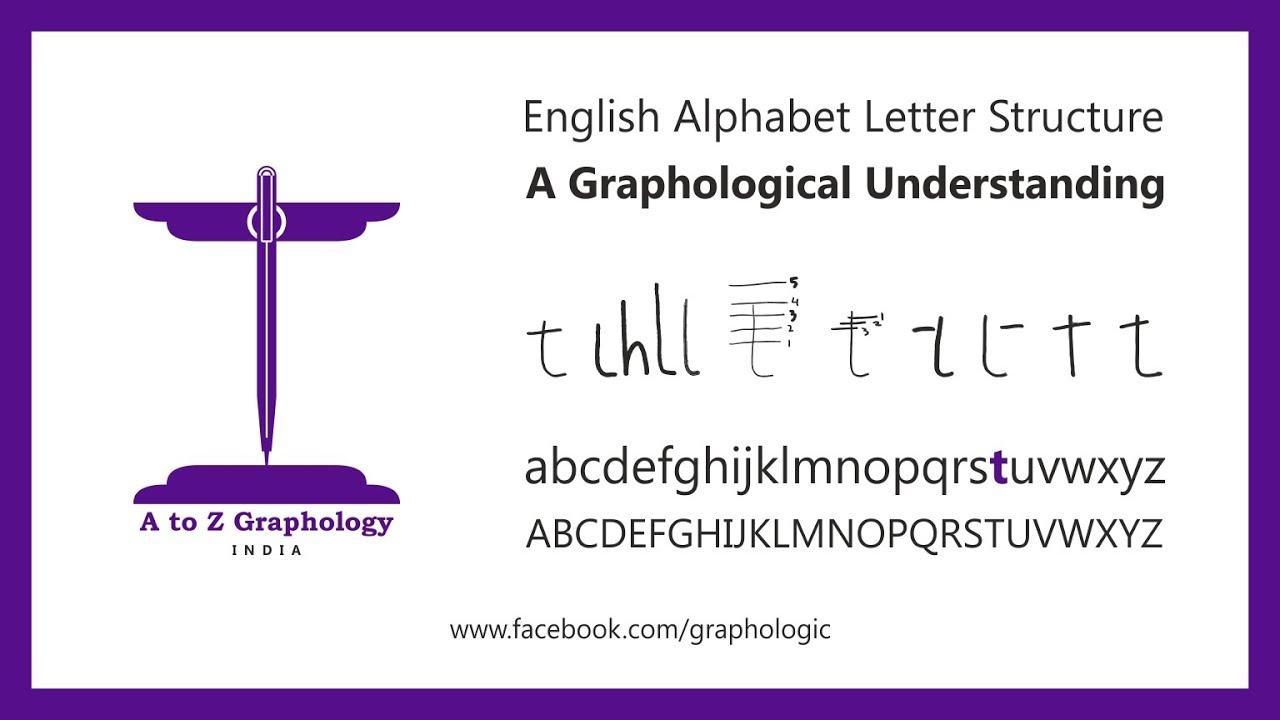 Graphology letter t