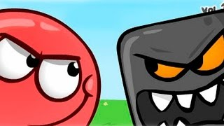 Мультфільм для дітей. Red Ball 4 #1. Пригода червоної кулі. Червоний куля проти Чорного квадрата.