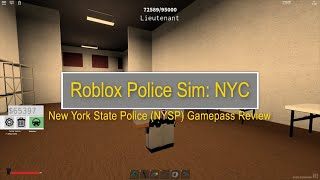 Roblox Police Sim : NYC New York State Police (NYSP) Gamepass Review
