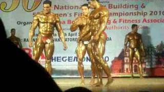 Mr  India 2010   Suhas Khamkar , Sangram Chaughule,  Maharashtra and Rajendran services  comparision