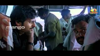 Prabhas comedy in bus - Prabhas Bujjigadu movie comedy scenes - prabhas trisha
