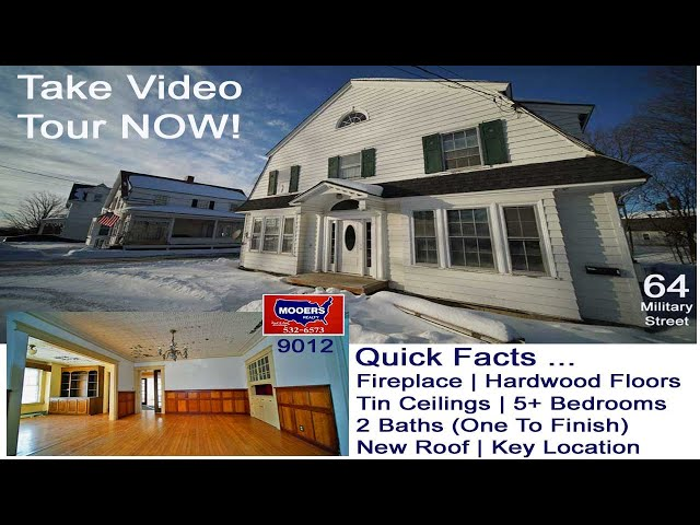 Homes For Sale | Maine Real Estate Video | 64 Military ST MOOERS  REALTY 9012