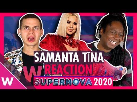"Samanta Tīna ""Still Breathing"" (REACTION) | Latvia Eurovision 2020 (Supernova Video)"