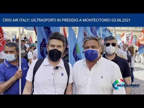 CRISI AIR ITALY: UILTRASPORTI IN PRESIDIO A MONTECITORIO