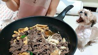 [집밥 브이로그] 집순이의 치팅데이/ 마라샹궈,소불고기,생선구이/자취생 요리 먹방 #66