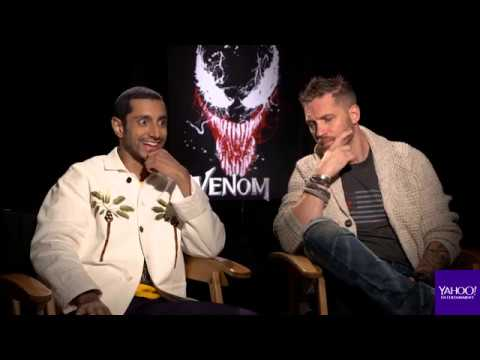 'Venom' stars Tom Hardy and Riz Ahmed geek out over Eminem ...