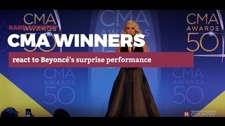 CMA winners react to Beyoncé