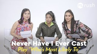 Never Have I Ever Cast Play Who's Most Likely To