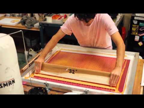 Screen Printing Gold Polka Dot Wrapping Paper