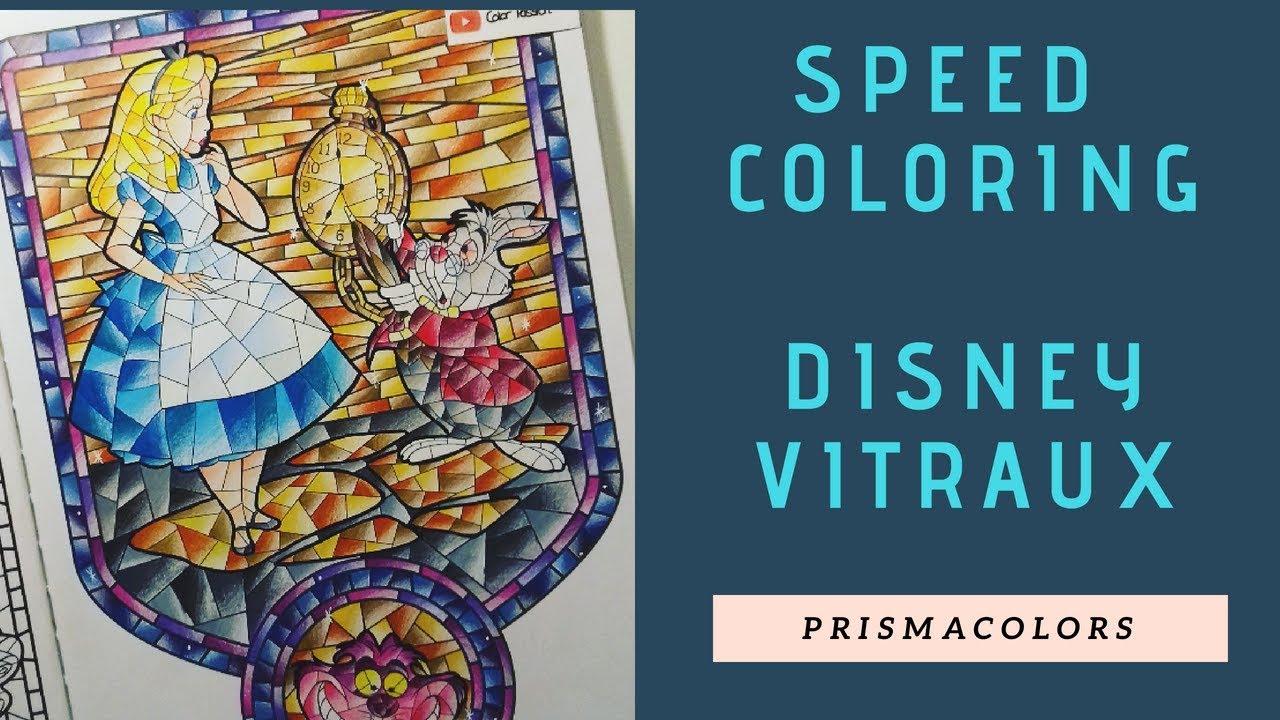 Disney Vitraux 19  Speed Coloring - YouTube  Coloriage disney
