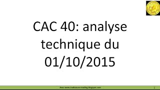 Analyse technique CAC 40 - Apprendre le trading et Ichimoku [01/10/2015]
