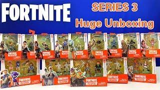 HUGE FORTNITE SERIES 3 FIGURES UNBOXING!!! | MOOSE TOYS