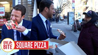 Barstool Pizza Review - Square Pizza (Bonus Izzies Cheesesteak Review)