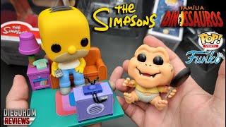 FUNKO POP Homer Simpson e Baby Familia Dinossauros! Review BR / DiegoHDM