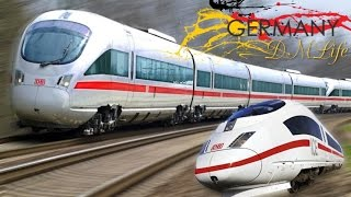 ICE скоростной поезд в Германии.ICE high-speed train in Germany.