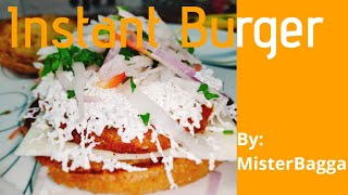 Aloo Tikki Burger Recipe in Hindi || Instant Burger Recipe || MisterBagga