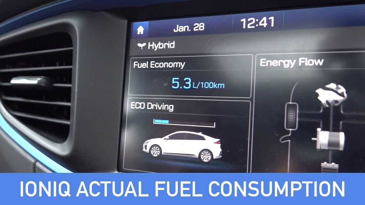 Hyundai Ioniq Actual Vs Reported Fuel Economy