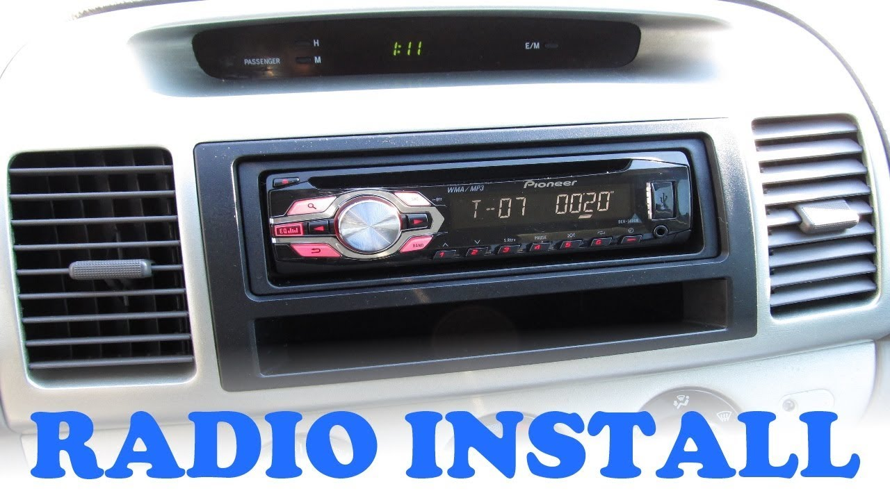 maxresdefault camry pioneer stereo install youtube 2003 toyota camry radio wiring diagram at virtualis.co