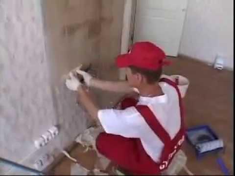 Подготовка стены. удаление старых обоев.