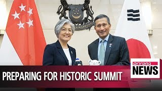 Seoul's FM talks with Singaporean counterpart to seek cooperation on N.K.-U.S. summit