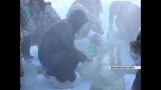 Жители Эвенкии встретили Крещение при -55 градусах