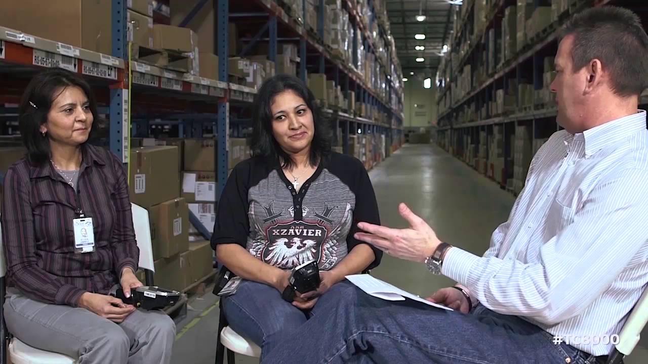 zebra tc8000 broadcast with exel logistics youtube