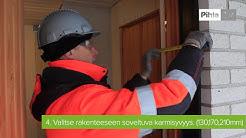 Pihla-ulko-oven mittaaminen