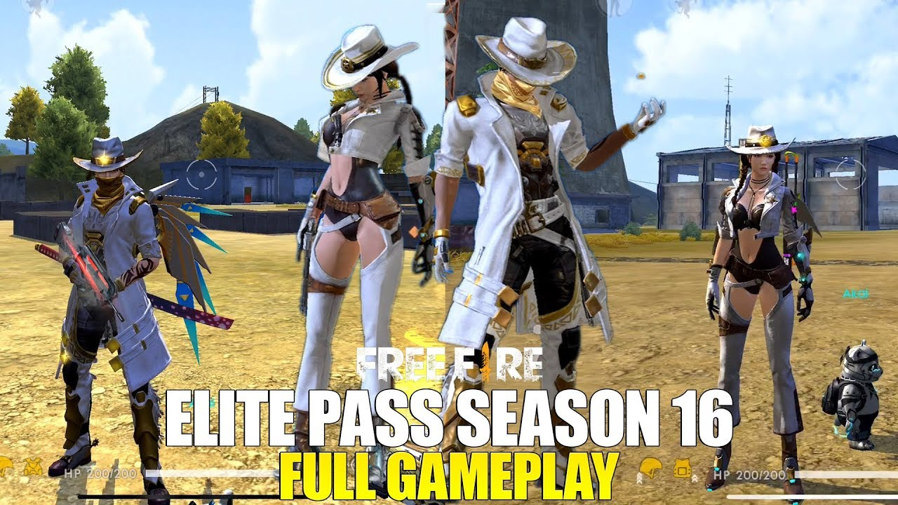 Borong Semua Badge Elite Pass 16 In Game Full Review Garena Free Fire