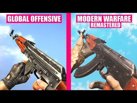 Counter-Strike Global Offensive Gun Sounds vs Call of Duty Modern Warfare Remastered