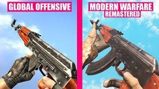Counter-Strike Global Offensive Gun Sounds vs Call of Duty Modern Warfare Remastered