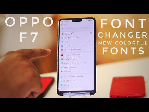 Change Fonts In Oppo F7 | Oppo F7 Fonts Changer With Colorful Fonts