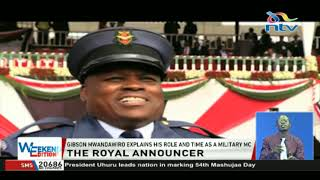 Gibson Mwandawiro explains his role and time as a military MC