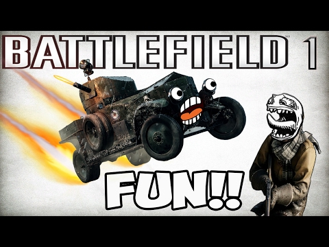 ARMORED CAR FUN !!!!  [ battlefield 1 funny moments & fails.. barrot video ]