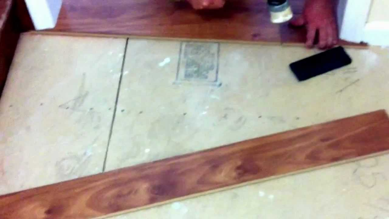 how to install laminate flooring under the door jambs youtube. Black Bedroom Furniture Sets. Home Design Ideas