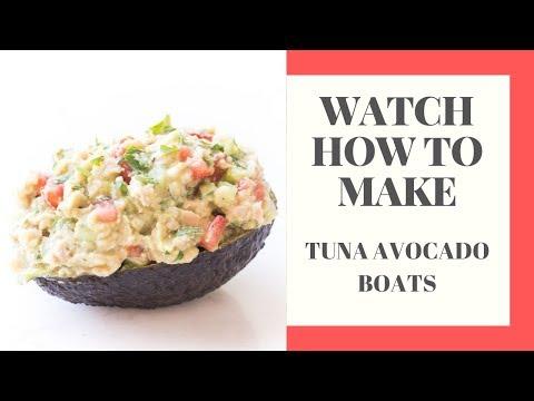 Whole30 + Keto Tuna Avocado Boats Recipe