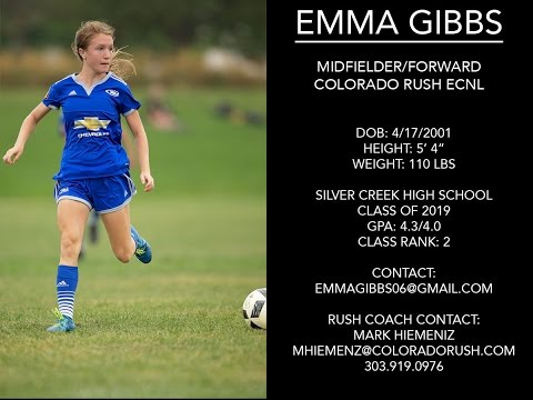 EMMA GIBBS (ECNL League Game and WUSPL Exhibition) April & May, 2017