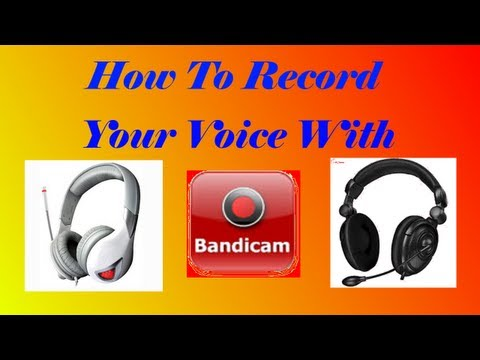 bandicam how to record voice
