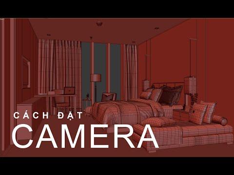 Cách đặt Camera ngoại thất & nội thất trong 3dsmax