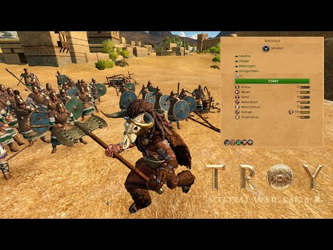 A Total War Saga - TROY : MINOTAUR Battle  