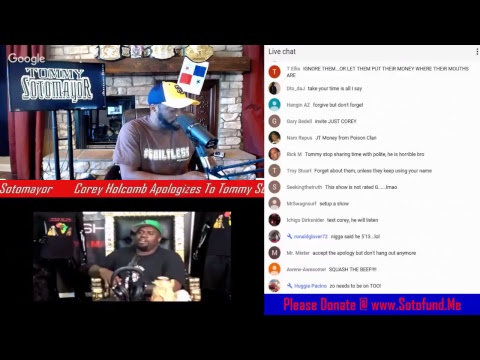 Comedian Corey Holcomb Apologizes To Tommy Sotomayor LIVE! Tommy Reacts!