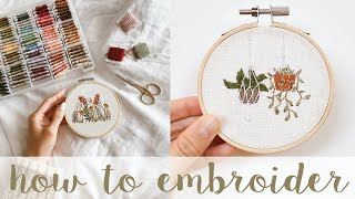 embroidered plants hoop art embroidered succulents embroidered plants Beginner embroidery kit Hanging plants embroidery Kit