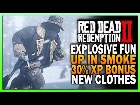 Explosively Fun! Up In Smoke, 30% Xp Boost & New Clothes - Red Dead Redemption 2 Online Update thumbnail