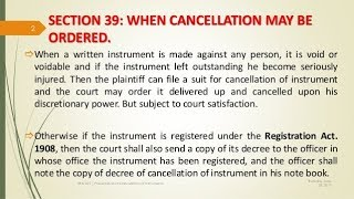 Circumstances When Cancellation Of An Instrument May Be Ordered part 1st By Mutahir Husssain Tarimzi