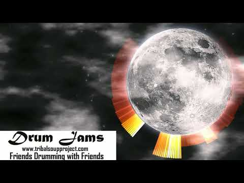 Moon Howling - Drum Circle Field Recording - Drum Jams - Tribal Soup Project