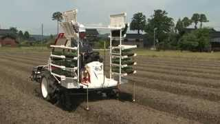 乗用全自動野菜移植機