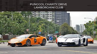 40+ Lamborghini Convoy ROLL OUT in SG !!!