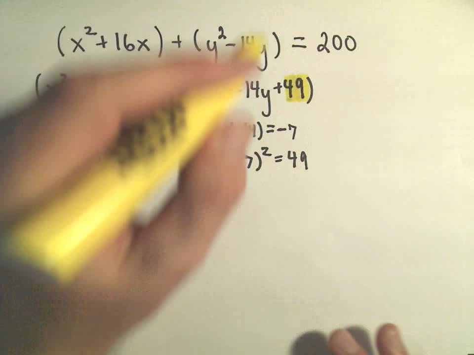 Finding the Center-Radius Form of a Circle by Completing the ...